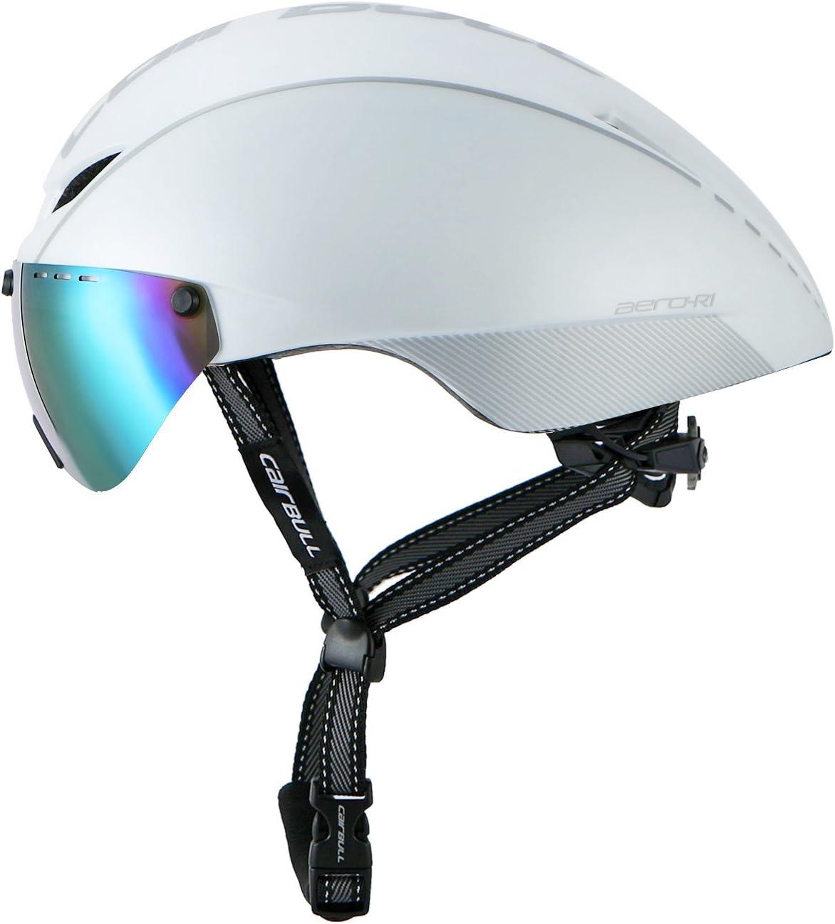 Cairbull Casco de Ciclismo para Adultos Bici Deportes con Gafas 56-61cm F/ácil de Usar Eliminar