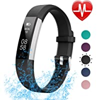 $29 Get LETSCOM Fitness Tracker with Heart Rate Monitor, Slim Sports Activity Tracker Watch, Waterproof…