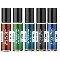 Men's Top 5 Cologne Impressions 2020 (Generic Versions of Designer Fragrance) Sampler Gift Set of 5 10.35ml Roll-ons