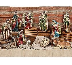 Extra Large Christmas Nativity Set of 11 Figures