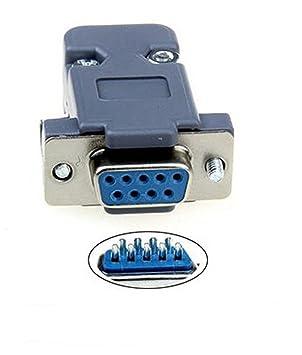 Conector Hembra D-Sub de 9 Clavijas para Soldadura RS232 Serial DB9 y capuchón Gris: Amazon.es: Electrónica
