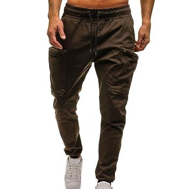 b6684306e6880 CIELLTE Pantalons Pantalons Homme de Sport avec Poche Classique Pantalon de Travail  Militaire Trousers Sarouel Loisir