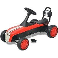 vidaXL Kart Pedales Ajustable Niños Rojo Coche Cart