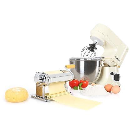 Klarstein Carina Morena Pasta Maker Set Robot de Cocina 800 W y máquina para Hacer Pasta