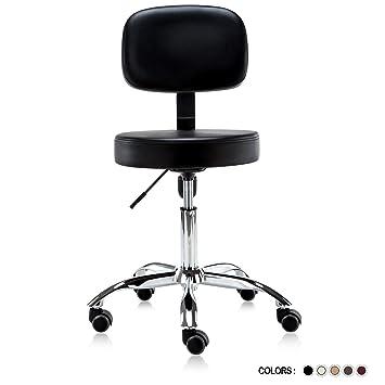 Brilliant Dr Lomilomi Multi Adjustable Hydraulic Rolling Medical Massage Stool Chair With Backrest 501 Black Frankydiablos Diy Chair Ideas Frankydiabloscom