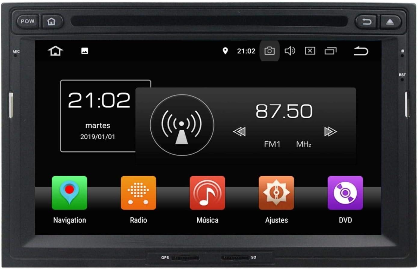 Android 8.0 Autoradio Coche para Peugeot 3008/5008(2010-2018), 4 GB RAM 32 GB ROM, 7 Pulgadas Pantalla Táctil Reproductor de DVD Radio Bluetooth Navegación GPS: Amazon.es: Electrónica