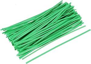 YeVhear Garden Twist Tie 10 cm 4 Inch Strips for Management of Branches Green 200 Pieces