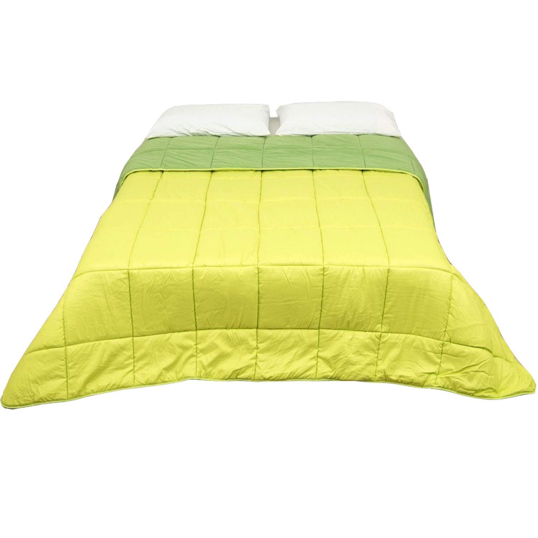 Steppbett Steppdecke Bett Doppelbett Double Face grün grün Rasen Tagesdecke gesteppt Mikrofaser 320 gr qm, Made in