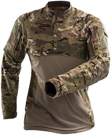 QAZW Ropa táctica Táctico Camisa Ejército Hombres Militar Camisa Táctico Traje de Ropa de Rana de Camuflaje Fuerzas Especiales de los Hombres Fanático del Desierto G-S: Amazon.es: Hogar