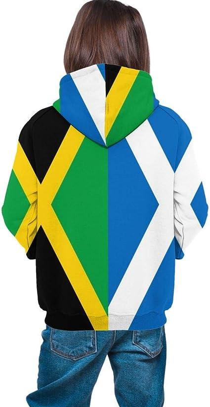 Jamaica Escocia Flag Teen Cool Sudaderas con Capucha 3D Print ...
