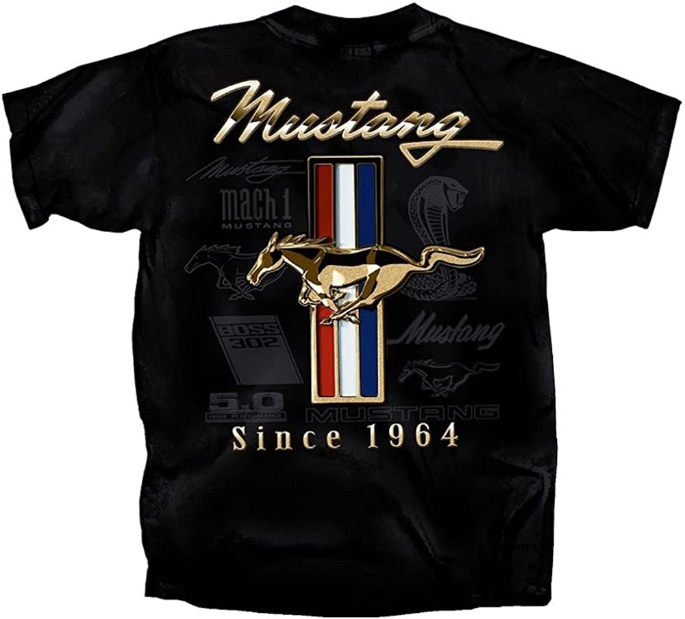 Official License Ford Mustang 50 Years Tri-Bar Men/'s// Poloshirt