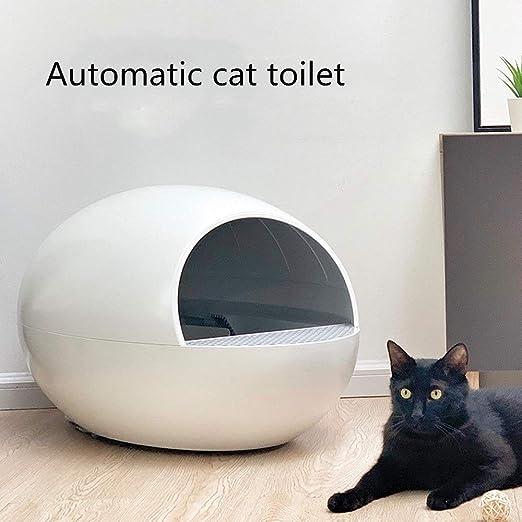Tscenror PE Las Cajas de Arena Inodoro automático for Gatos ...