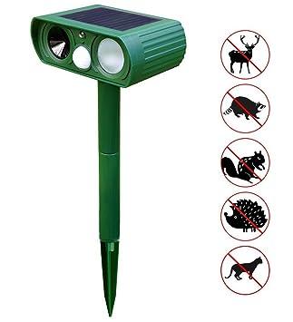 ... Perros y Gatos Repelente Exterior de Animales Repelente de Zorros Ciervos Roedores con Sensor PIR para Granja Campo Jardín (1 Pieza): Amazon.es: Jardín