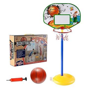 304362ed6e884 MRKE Panier de Basket Enfant 68-144CM Réglable Mobiles Chambre Interieur et  Extérieur