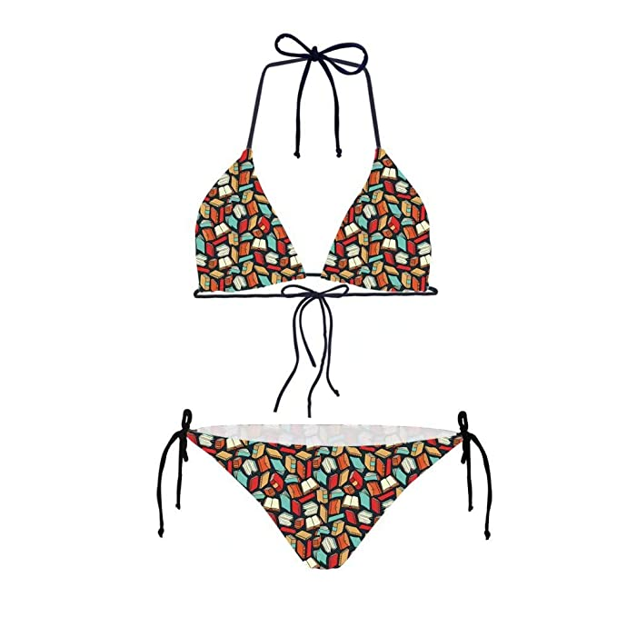 Amazon com: Showudesigns Maths Formula Halter Bikini Set