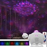 Starry Night Light Projector Bedroom, 3 in 1 Ocean Wave Projector Galaxy Projector Light w/Bluetooth Music Speaker for…
