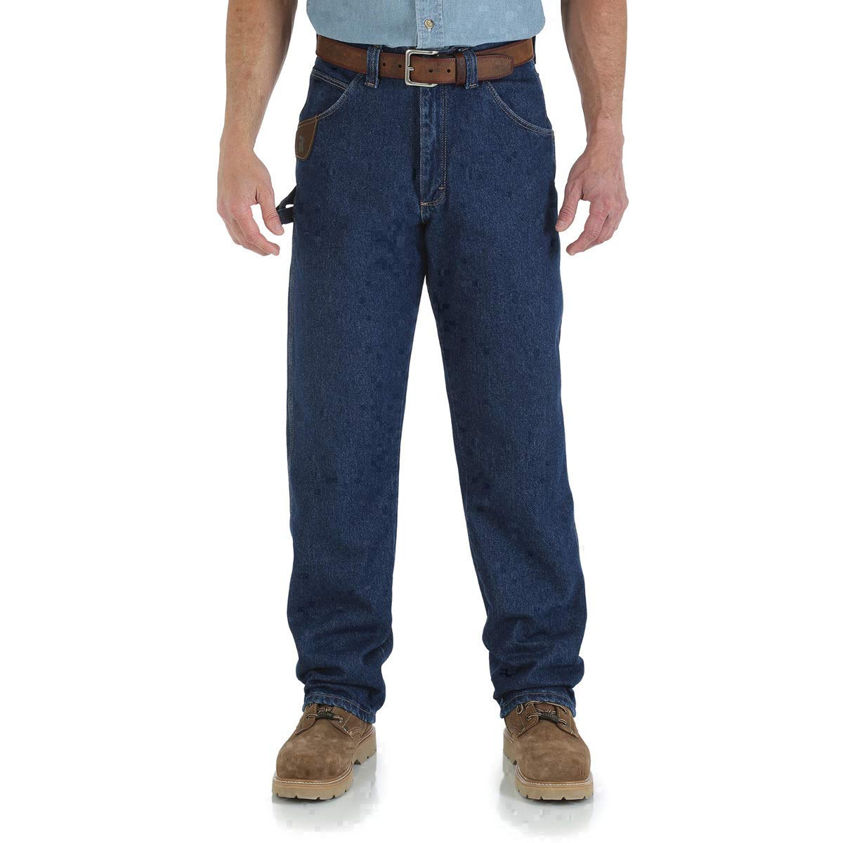 Wrangler RIGGS Workwear 34'' X 30'' Antique Indigo Wrangler RIGGS Workwear 14.5 Ounce Cotton Jeans With Front Zipper Closure