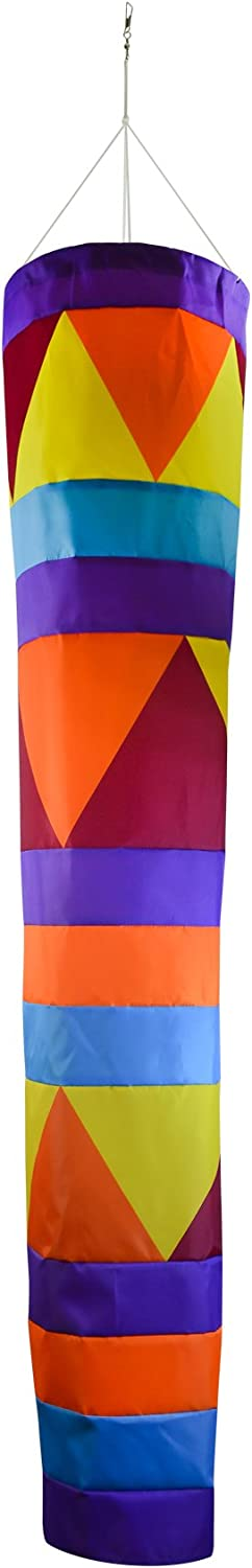 60-Inches In the Breeze 5046 Aztec Cone Windsock Colorful Large Hanging Decoration