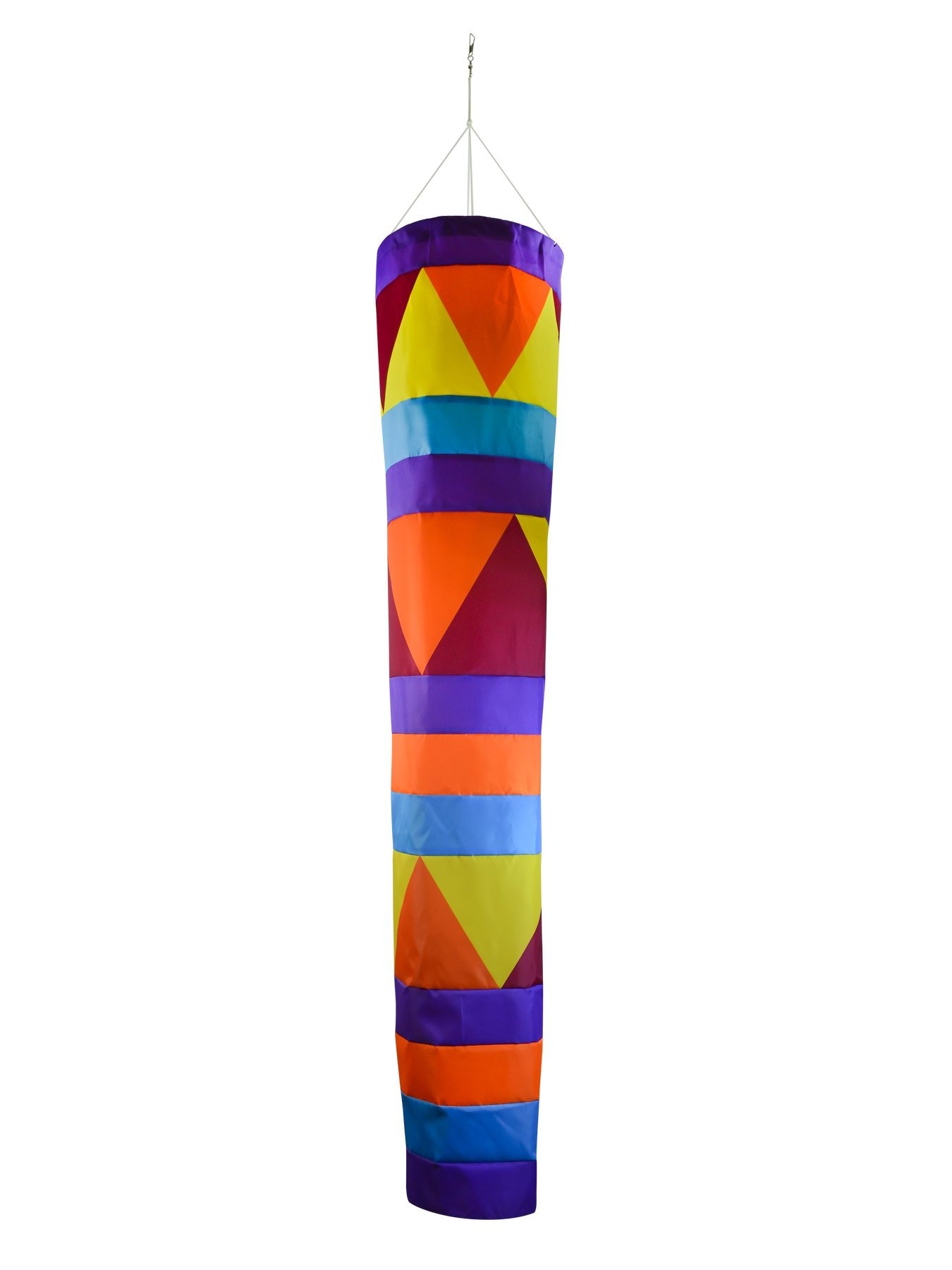 In the Breeze 5046 Aztec Cone Windsock - Colorful Large Hanging Decoration - 60-Inches