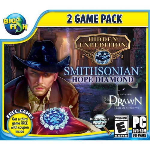 Hidden Expedition SMITHSONIAN HOPE DIAMOND + DRAWN: TRAIL OF SHADOWS + BONUS GAME! Hidden Object (Hidden Objects Computer Games)