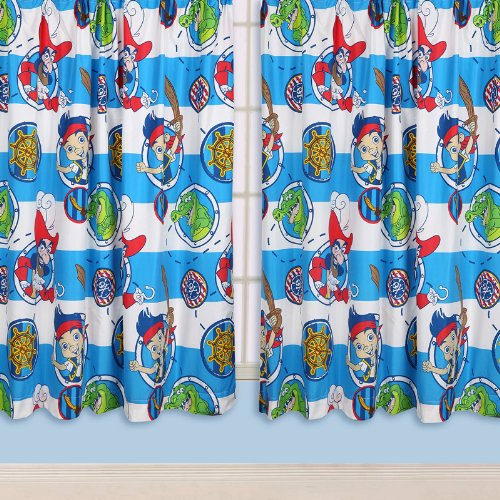 Disney Jake and The Neverland Pirates Doubloons 72 Drop Curtains by (Jake And The Neverland Pirates Bathroom Decor)