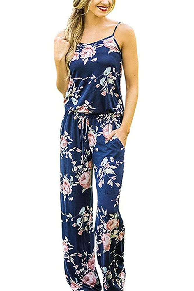 b0ae4f13d64 Miss Floral Womens Sleeveless Summer Floral Print Jumpsuit 3 Colour Size  6-16 Legendary Anpire