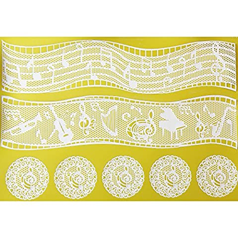 Music Themes Silicone Lace Mat by Chef Alan Tetreault (Frozen Theme Food)