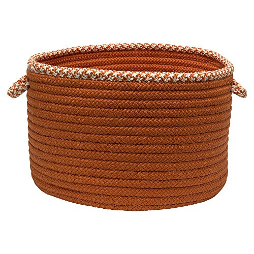 Orange Hounds (Colonial Mills Hounds Tooth Bright Edge Basket, 14 by 10-Inch, Orange)