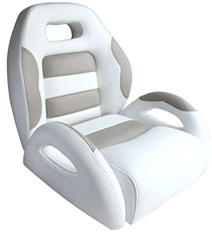 Enjoyable Leader Accessories Pontoon Captains Bucket Seat Boat Seat White Taupe Alphanode Cool Chair Designs And Ideas Alphanodeonline