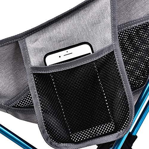 Bärbar grå måne stol fiske campingpall hopfällbar utökad vandringsstol med ficka ultralätt kontor hem möbler