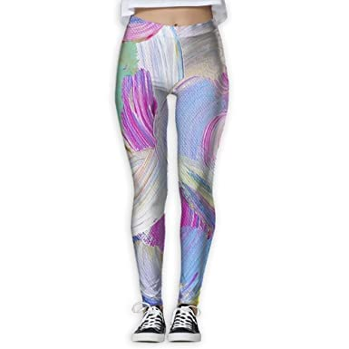 134dde9715 Image Unavailable. Image not available for. Color: JINYIPI Yoga Pants  Colourful Feather Women's Full-Length ...