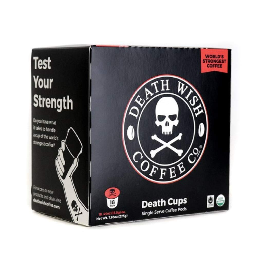 DW Coffee Death Wish Coffee K Cups,18 Count (Pack of 4) by DW Coffee (Image #1)