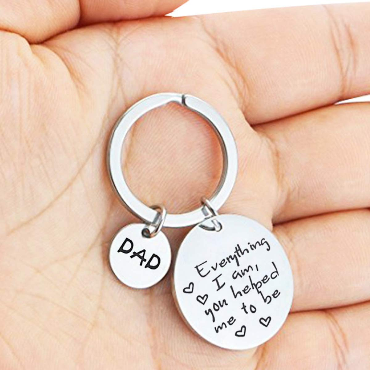 Fathers Day Keychain Fathers Day Gift from Daughter or Son Fathers Day Gifts for Dad Papa