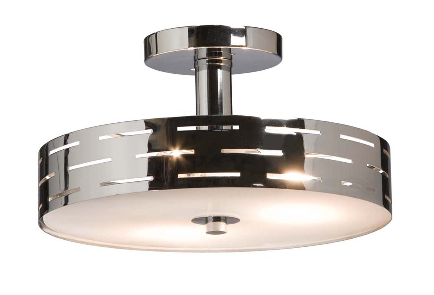and circa product end high chrome flush ceiling decaso light glass lightolier mount fixture