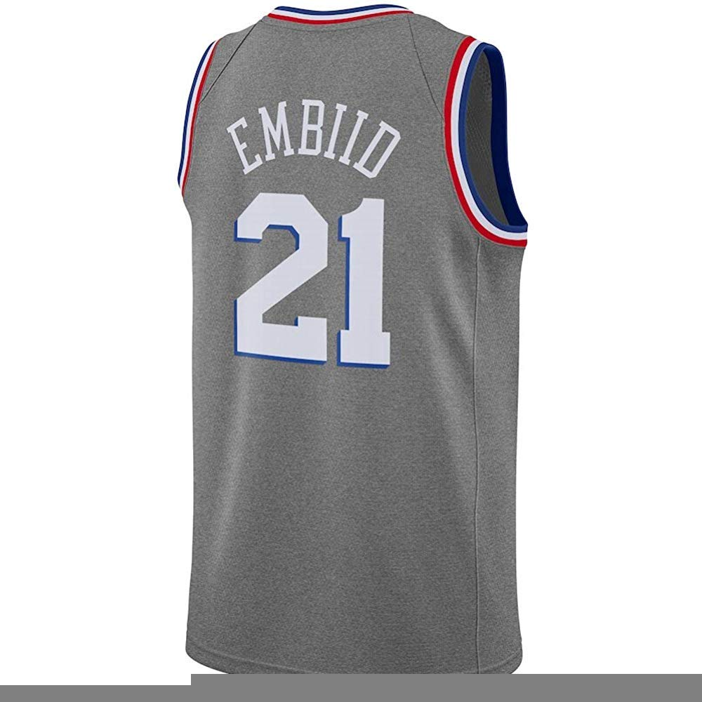 finest selection fb738 2ac41 Amazon.com: Outerstuff Joel Embiid Gray City Edition Jersey ...