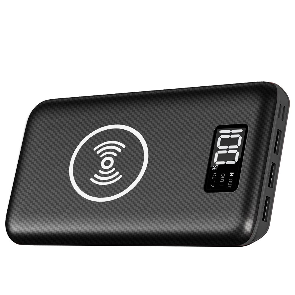 Portable Charger Power Bank 24000mAh - Wireless Charger with LED Digital Display, 3 Outputs & Dual Inputs External Battery Pack Compatible Cellphone,Android Phones,Tablet and More. by Gnceei