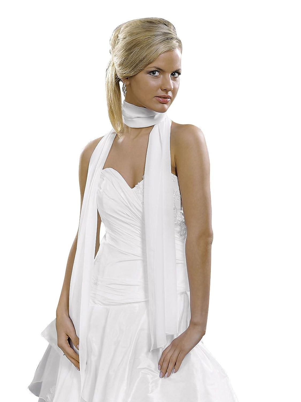 Braut Schal / Stola für Brautkleid Chiffon - E15 (ivory): Amazon.de ...