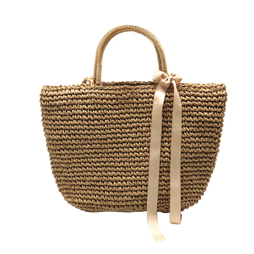 877ece071106 SHZONS Bamboo Handbag, Handmade Woven Tote Bamboo Purse Straw Beach Bag  Half Moon Bag for Women,Dual-Purpose Braided Woven Travel Sling Bag  Crossbody ...
