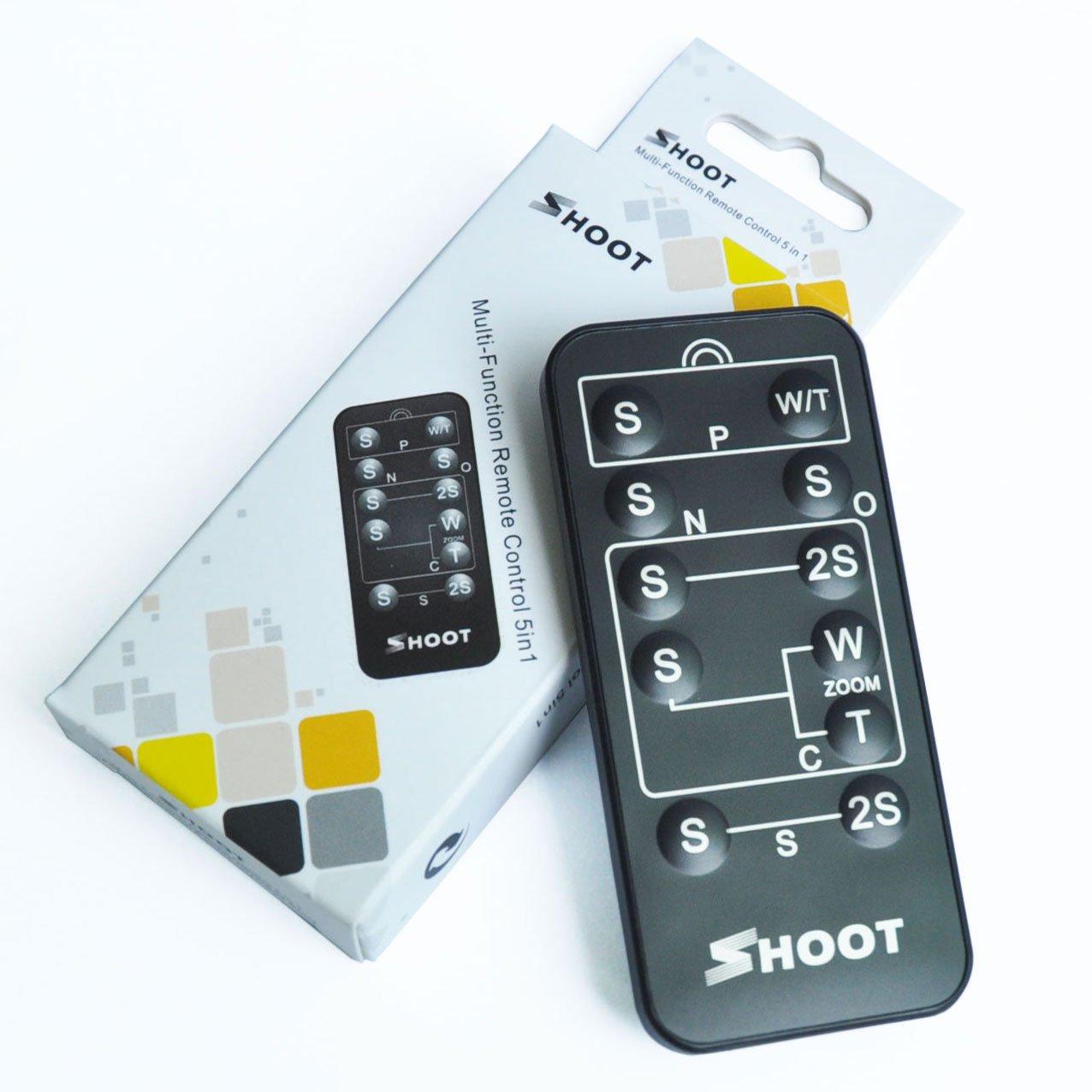 5-in-1 Remote Shutter Release for Nikon, Sony, Canon, Konica Minolta & Pentax Digital Cameras Neewer 10002213@@7