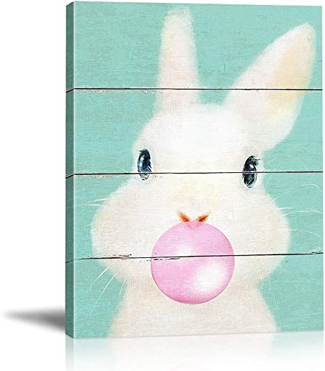 Rabbit//Bunny Poster //Carrot Garden//Colorful Animal Poster//Print// 16x20 inch