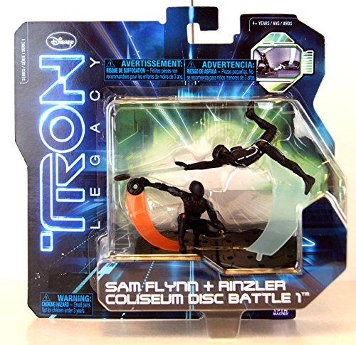 Tron Legacy Figures Light (Tron Legacy Series 1 Exclusive Figure 2Pack Sam Flynn Rinzler Coliseum Disc Battle 1)
