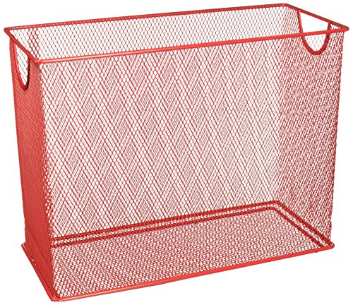 (Honey-Can-Do OFC-04859 Mesh Table Top File, 5.5 x 12.5 x 9.87, Red)