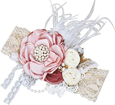 Shabby Chic Flower Baby Girl Headband Available in 30 Colors