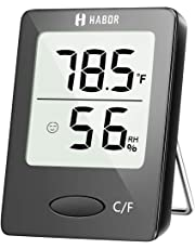 Habor Hygrometer, [Mini Style] Digital Indoor Room Thermometer Accurate Indoor Temperature and Humidity Meter Monitor with LCD Display for Home Office Nursery Comfort