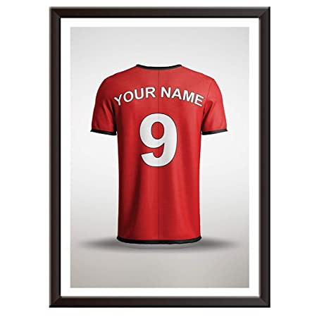 new style bbee2 83426 Personalised Manchester United / Red Devils Home Football Shirt Print -  Word Art Gift Idea Present - 17/18 Premier League (EPL) - Professionally ...