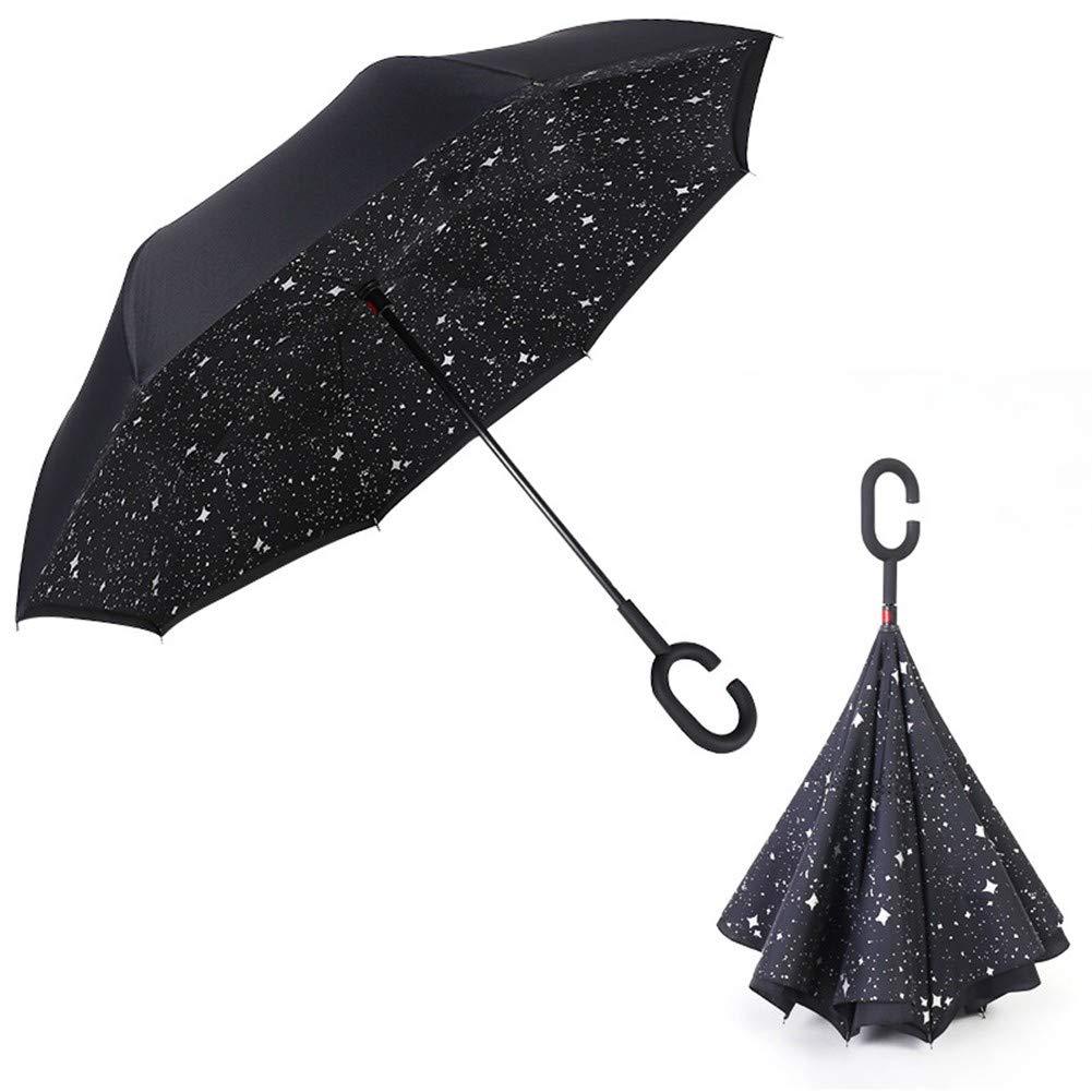 online retailer 017a0 5bc19 HMKLDFTY Auto Parasole Reverse Umbrella Auto Stelle Parasole Creativo Lungo  Manico Cherry Blossom Umbrella 3Pieces,