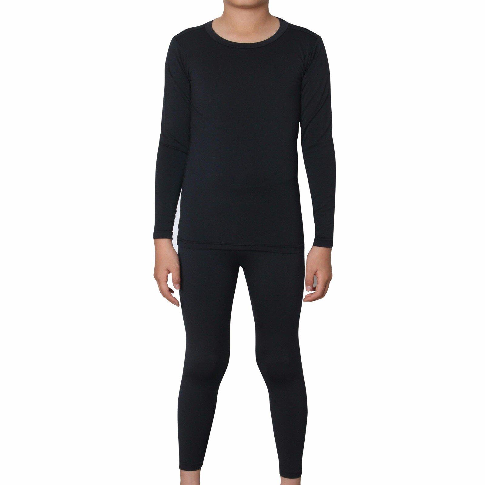 Thermal Underwear Kids Base Layer Compression Pants Shirt Tights Set CPLK L