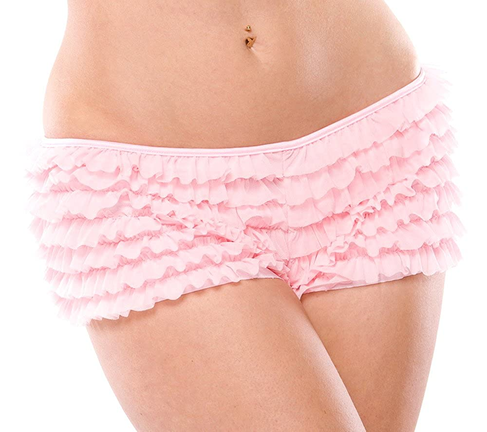 08cf2b710721 Amazon.com: Coquette Women's Ruffled Rhumba Booty Short: Clothing