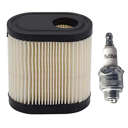 Podoy 36905 Air Filter for Tecumseh RJ19LM Spark Plug Kit for Toro Recycler  LEV100 LEV115 LEV120 OVRM105 OVRM65 TVS115 TVS120 5 5 HP Sears Mowers