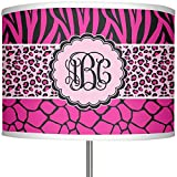 RNK Shops Triple Animal Print 13'' Drum Lamp Shade Linen (Personalized)